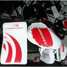 Powertek v5.0 Barikad Goalie blocker/glove Junior Set