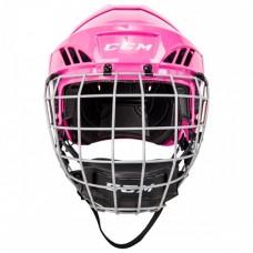 CCM FL40 Hockey Helmet Combo - Pink