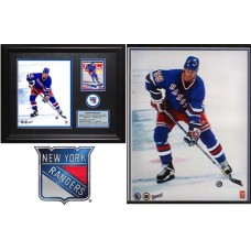 RARE Wayne Gretzky Rangers Photo Card Plaque