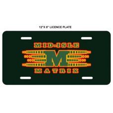 Mid-Isle Matrix   Licence Plate