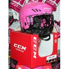 CCM/Otny PINK Ringette Helmet Combo