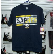 Buffalo Sabres Striped Effect Hockey T-Shirt