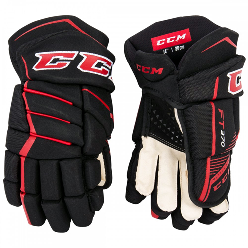 aa4ce17453a CCM Jetspeed FT370 Hockey Gloves - Black Red
