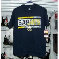 Buffalo Sabres Striped Effect Hockey T-Shirt